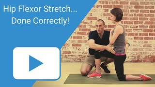 Download Hip Flexor Stretch - Done Correctly Video