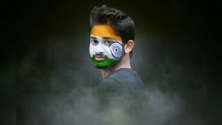 Download Flage Paint on Face Manipulation   PicsArt Editing Tutorial Independence Day Video