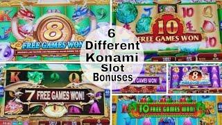 Download 30 Minutes KONAMI Slot Machines Bonuses & ALL FEATURES !!!! 6 Different Konami Slot Games Video
