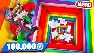 Download Little Brother Gets 100K Vbucks if He Wins! (Fortnite Rainbow Dropper) Video