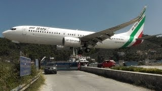 Download Skiathos, the Second St Maarten! Low Landings and Jetblasts - A Plane Spotting Movie Video