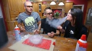 Download Liquid Nitrogen and Whip Cream Challenge Video