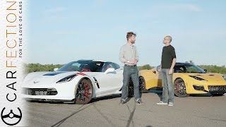 Download Lotus Evora 400 vs Corvette Grand Sport: UK vs USA - Carfection Video