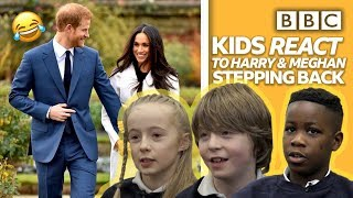 Download Kids react to Prince Harry and Meghan 'stepping back' 😂   Newsround - BBC Video