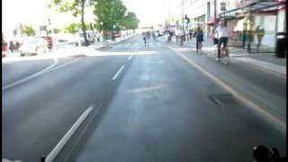 Download 500w Hub Motor, 48v 10ah LiFePO4 battery, swooping through Stockholm morning rush hour traffic Video