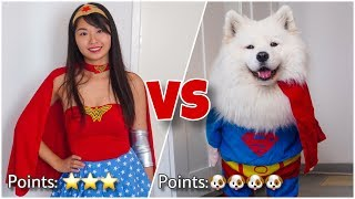 Download Trying On Halloween Costumes With My Dog Video