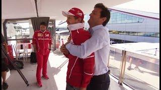 Download F1 2017 British GP - When Mark Webber met Sebastian Vettel Video