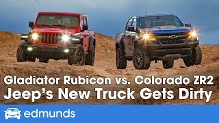 Download Jeep Gladiator Rubicon vs. Chevy Colorado ZR2 - 2019 Off-Road Truck Comparison Video