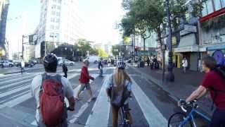 Download San Francisco Bike Commute, MIssion to Financial District (x2 speed) Video