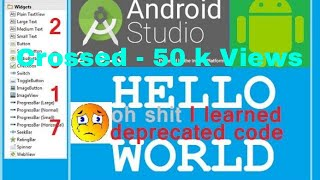 Download ANDROID STUDIO 3.2.1 tutorial (Hello world) Make your first app. Video