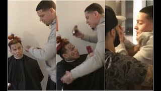 Download 6ix9ine Goes Off On Barber For Messing Up His Hair Cut Video