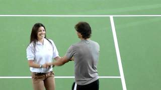 Download Djokovic and Nadal dancing salsa in Colombia HD Video