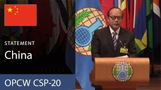 Download China Statement to the CSP-20 delivered by Ambassador Chen Xu Video