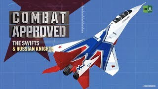 Download The Swifts and The Russian Knights. Behind incredible air stunts by MiG-29s & Su-27s Video