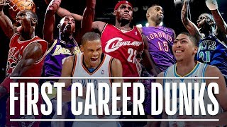 Download NBA Stars' First Career Dunk (Michael Jordan, Kobe Bryant, Vince Carter, LeBron James) Video