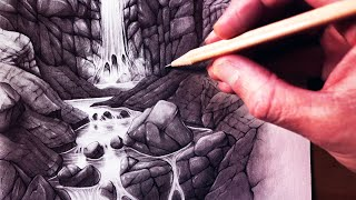 Download How to Draw a Waterfall and Stream Video