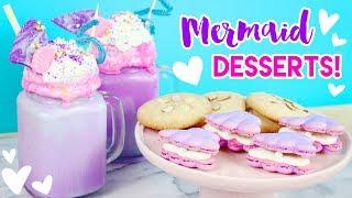 Download How to Make Mermaid Desserts (Freakshakes, Macarons, and Cookies)! 💕🐠 Video