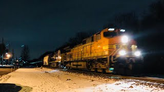 Download Night Time Railfanning!! Loaded Military Train and Other Nice River Line Catches!! Video