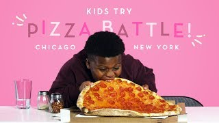 Download Kids Try Pizza Battle! New York Thin Crust vs. Chicago Deep Dish | Kids Try | HiHo Kids Video