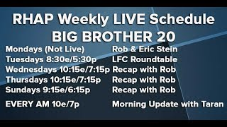 Download BB20 | Thursday Morning Live Feeds Update July 19 Video