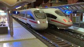 Download HO station diorama DB ② - ICE, high speed trains Video