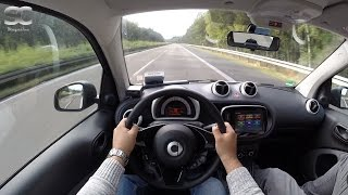 Download Smart ForTwo 1.0 (2016) on German Autobahn - POV Top Speed Drive Video