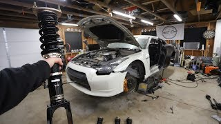 Download The Salvage GTR gets New Coilovers, Axels, Suspension and Brakes Installed Video