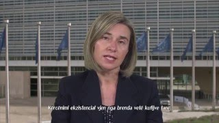 Download Federica Mogherini's message on Europe Day (Albanian subtitles) Video
