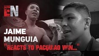Download Jaime Munguia Reacts To Pacquiao Win & Who's Next EsNews Boxing Video
