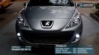 Download PEUGEOT 207 GTi XENON bajas LED CREE altas XENON aux Video
