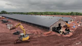 Download Timelapse video of poultry project, Shropshire, UK Video