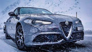 Download Alfa Romeo Giulia Veloce - St. Moritz ROADTRIP (60FPS) Video
