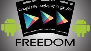 Download [Freedom] Tarjetas GRATIS para hacer compras por la google play ||AndroidStudios Video