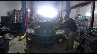 Download LIFTED FORESTER GETS LIGHT BARS! Video