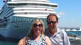 Download Ten Things Not to Miss onboard the Carnival Vista Video