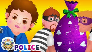 Download ChuChu TV Police Chase & Catch Thief in Police Car Save Giant Surprise Eggs Toys, Gifts for Kids Video