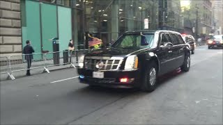 Download United States President Obama's Presidential Motorcade With U.S. Secret Service & NYPD In Manhattan Video