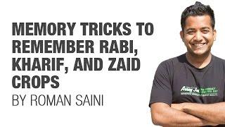 Download Tricks to remember Rabi, Kharif, Zaid crops (UPSC/IAS, SSC CGL, CHSL, Railways, RBI, Bank PO) Video