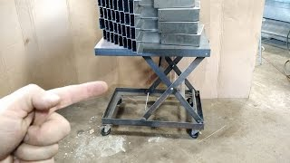Download Homemade scissor lift table Video