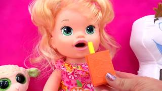 Download Baby Alive Super Snacks Snackin' Sara Poops Wets Diaper + Feed Doh Food Doll - Toy Play Video Video