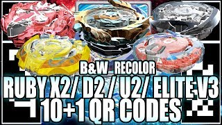 Download 10+1 QR CODES RUBY X2, PLATINUM D2, U2 RECOLOR E MAIS! - BEYBLADE BURST APP QR CODES Video