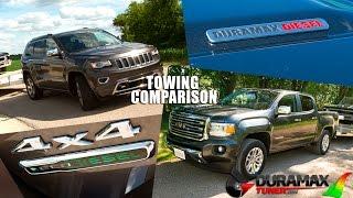 Download 2.8L Duramax versus 3.0L Jeep EcoDiesel Towing Comparison by Duramaxtuner Video