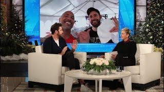 Download John Krasinski Had No Idea How to Use the Equipment in The Rock's Private Gym Video