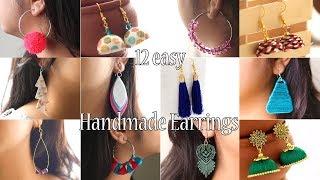 Download 12 Easy DIY Earrings   Handmade Jewellery   Jewellry Making Video