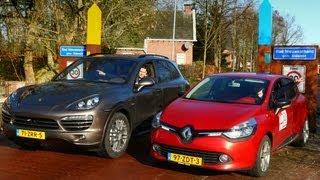 Download Autobahn of Nederlandse snelweg: Cayenne vs. Clio Video