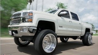 Download The CLEANEST Lifted set up for your 2015 GAS truck! Perfect Wheel and Stance! Video