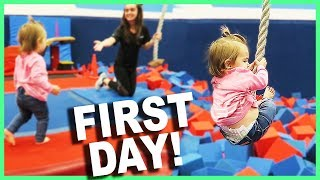 Download BABY'S FIRST DAY OF GYMNASTICS! Video