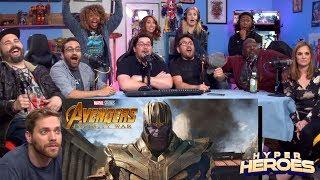 Download Marvel Studios' Avengers: Infinity War - Official Trailer Reaction Video