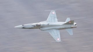 Download Northrop F-5E Tiger II Swiss Air Force Shooting to ground Target Axalp 2012 Airshow Video