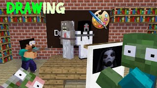 Download MONSTER SCHOOL - DRAWING KIDNAP CHALLENGE - Minecraft Animation Video